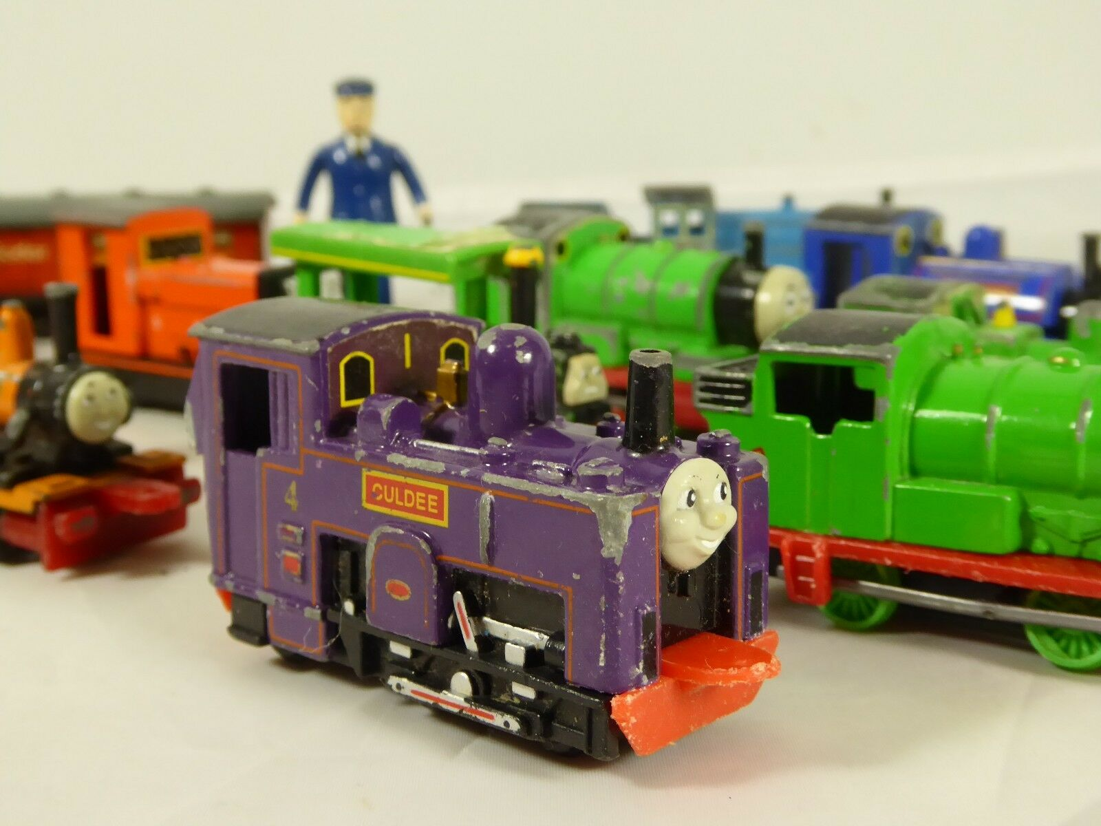 Collection of  vintage Thomas the the the Tank Engine Toys Play  Worn toy 877e54