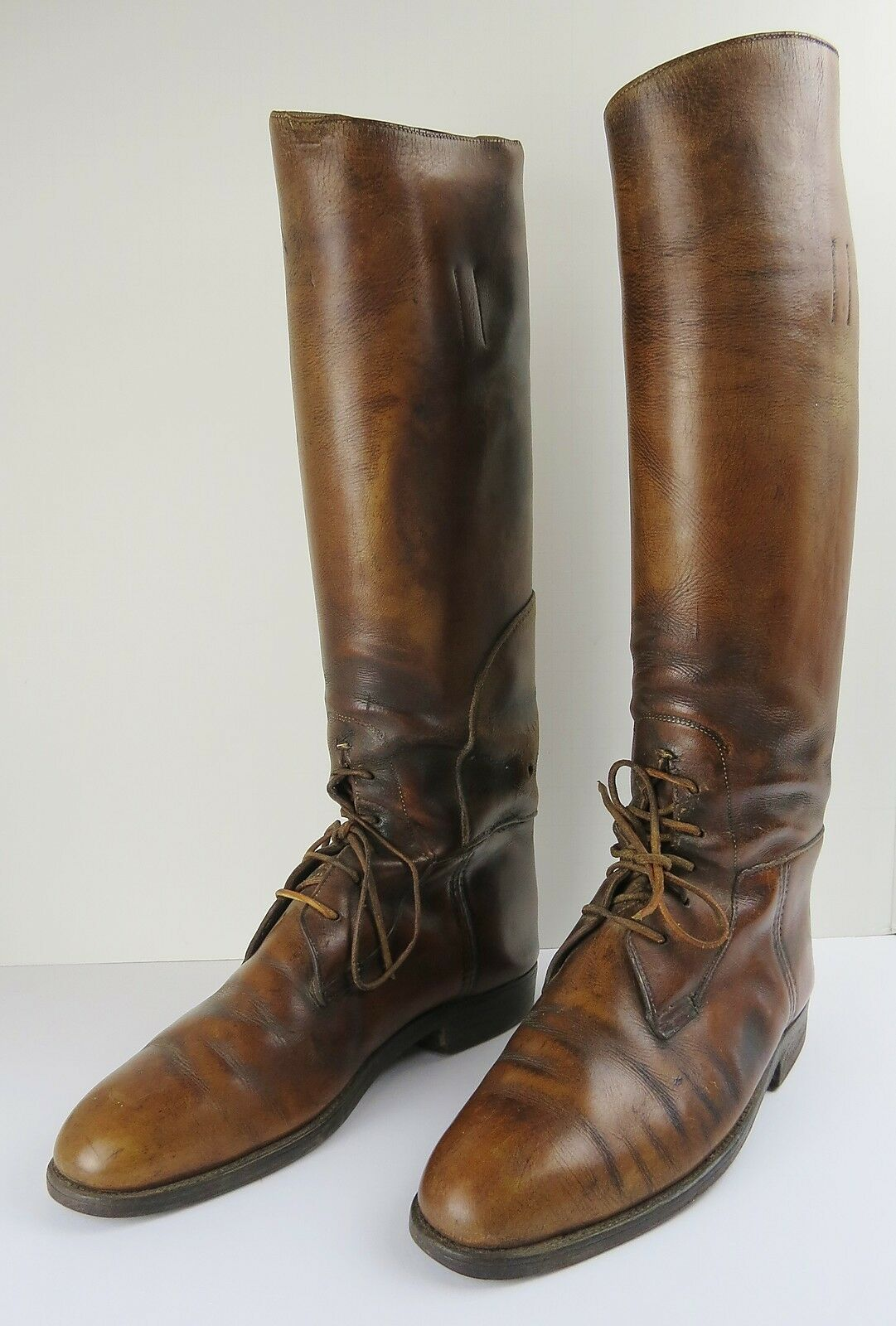 VTG Casa Fagliano Brown Leather Equestrian Polo Riding Mens Boots & shoe forms
