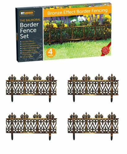 MyGarden 4pc Verrouillage Balmoral pelouse bordure bronze frontière-Lot de 4