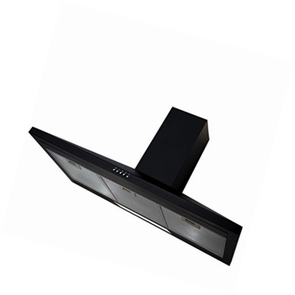 SIA AMZCHL90BL 90cm Black Pyramid Chimney Cooker Hood Kitchen Extractor Fan