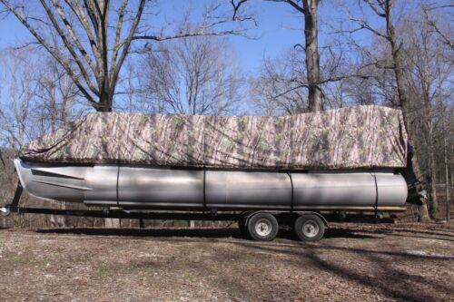 NEW CAMO VORTEX 19-20  FT ULTRA 5 YEAR CANVAS COVER FOR PONTOON//DECK BOAT