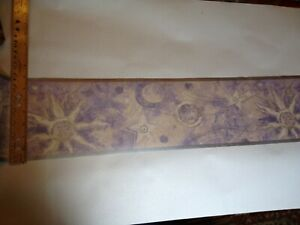 Details About Sun Moon And Stars Celestial Pre Pasted Wallpaper Border 743004b