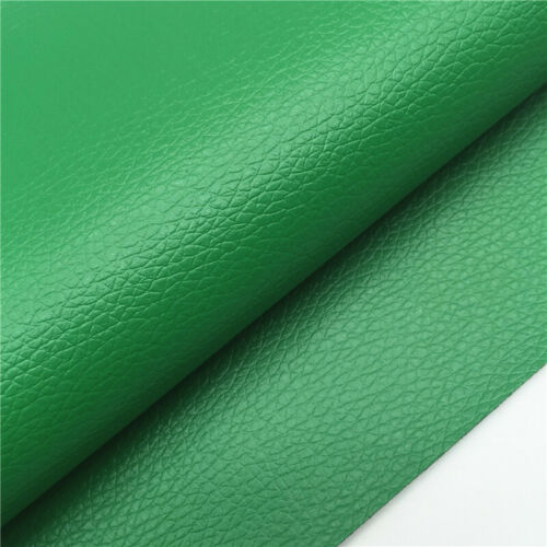 Solid Lychee Faux Leather Leatherette Vinyl Upholstery Craft Fabric Sew A4 Sheet