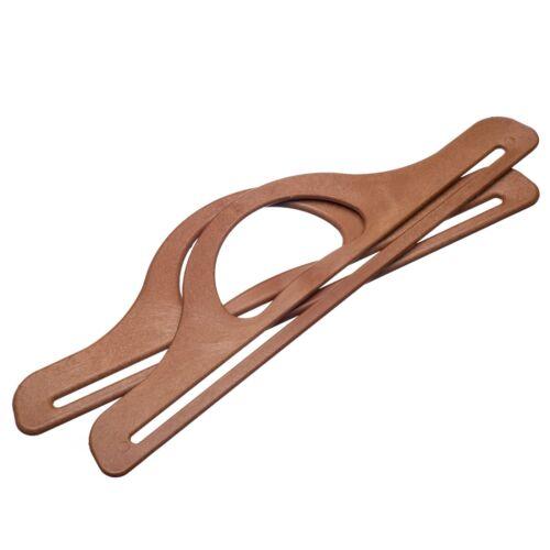 Gran variedad de bolsa de plástico maneja brillo triángulo artesanía hacer Redondo madera