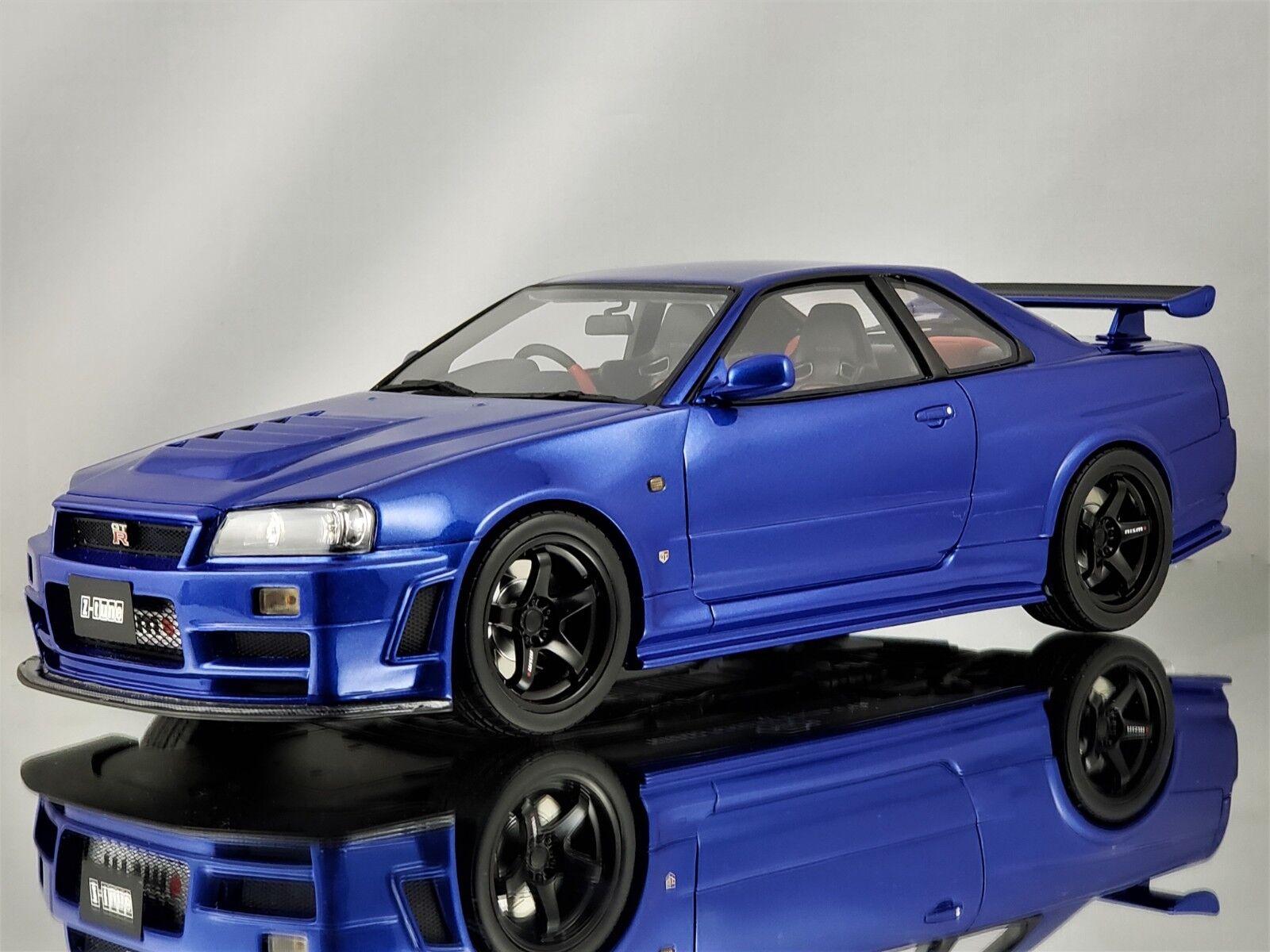 Otto Mobile Nissan Skyline GT-R R34 Nismo Z-Tune Z-Tune Z-Tune Spec Metallic bluee 1 18 c473de
