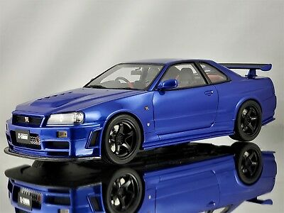 Otto Mobile Nissan Skyline Gt R R34 Nismo Z Tune Spec Metallic Blue 1 18