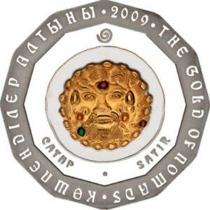 KAZAKHSTAN-500-TENGE-SILVER-GOLD-OF-NOMADS-SATYR-SATIR-2009-PROOF-2009