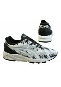 Asics-Gel-Kayano-EVO-Lacet-Noir-Blanc-Lacets-Baskets-Homme-H6C3N-Taille-UK-9