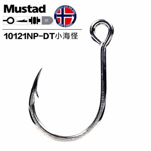 2 Pack Lots Mustad Kaiju In-Line Single Lure Hooks Size 1-10121NPDT