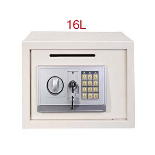 Digital Steel Safe Electronic Home Security Cash Combination Lock Safety Box UK