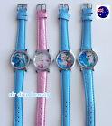 Children Kid Girl Frozen Anna Elsa Synthe leather Wrist Watch Birthday Xmas Gift