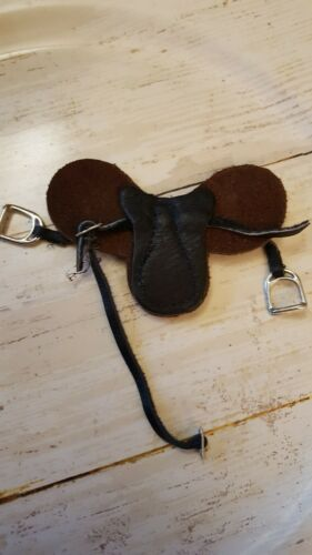"""Set of 10 mini doll horse saddle  3.5/"""" x 2/""""  crafting sewing doll miniatures DD"""