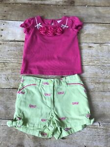 5765babcb Janie and Jack Baby Girl 3-6 Months Pink Green Dragonfly Summer ...