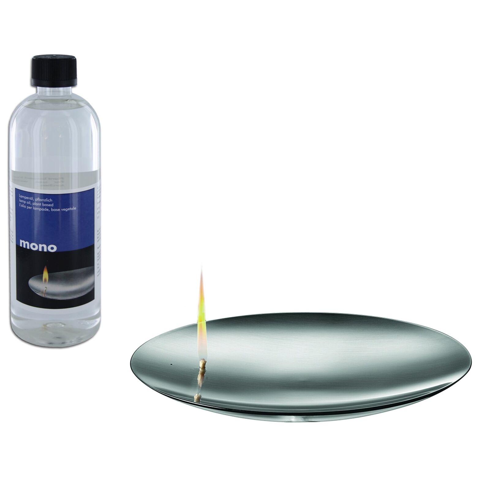 Mono flammschale concave 26,5 cm, incluyendo pfanzliches quinque petroleo 1 litros