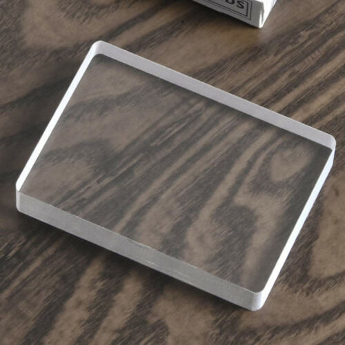 Invisible Deck Glass Card Deck Ice Bound Magic Trick Card Illusion Accessory 6A