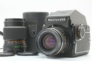 Quasi-Nuovo-Mamiya-M645-PD-Prism-Finder-SEKOR-C-55mm-150mm-Lens-dal-Giappone