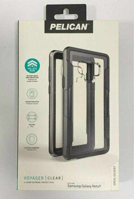 half off 92cbb d1f79 Pelican Voyager Clear Gray Case for Samsung Galaxy Note 9 With Belt Clip