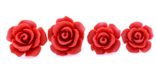 Espiga De Laca Roja Artesanal Rosa Varios Tamaños para Elegir