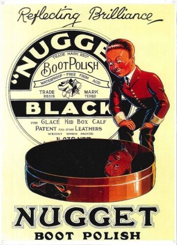 Nugget Black Boot Polish Metal Sign 010473 SPECIAL