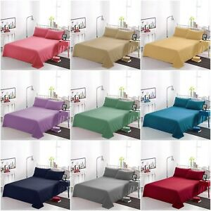 Image Is Loading Non Iron FLAT BED SHEETS Plain Dyed High