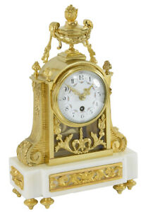 PENDULE-LOUIS-XVI-Kaminuhr-Empire-clock-bronze-horloge-antique-uhren-cartel