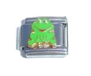 fits 9mm classic Italian charm bracelets Frog photo Italian Charm