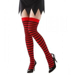 e825fd8f1 Red   Black Striped Over The Knee Socks Dennis The Menace Style ...