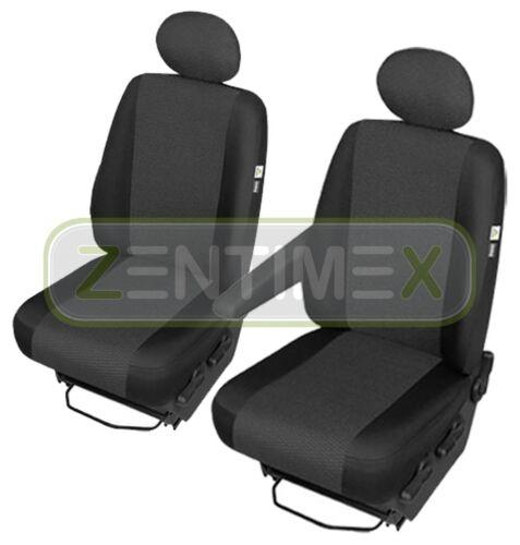 Fundas para asientos ya referencias set AE para citroen jumpy tela negra