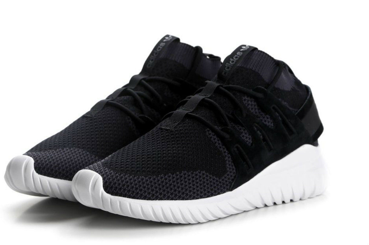 {S80110} MEN'S ADIDAS ORIGINALS TUBULAR NOVA X PK PRIMEKNIT SHOES BLACK *NEW*