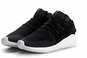 New Men/'s Adidas Originals Tubular Nova PK Primeknit Black//White S80110