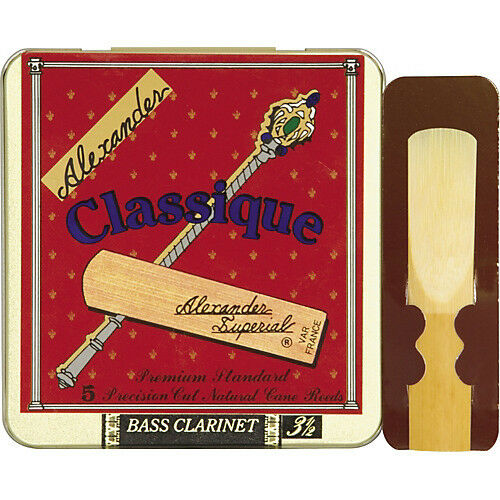 ALEXANDER SUPERIAL CLASSIQUE AC535 BASS CLARINET REEDS STRENGTH 3.5 - TIN OF 5