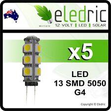 LED G4 LIGHT BULB 12v GARDEN JAYCO CAMPER CARAVAN 4X4 COROMAL BOAT 13 SMD5050 x5