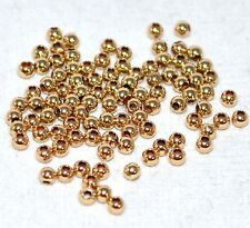 14K Gold-Filled Round 2mm Seamless Beads Spacer Jewelry Finding Beading 10Pk