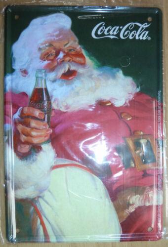 Coca Cola Metallschild Weihnachten Design NEU /& OVP 10x15cm X-Mas