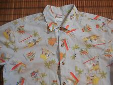 Disney MICKEY MOUSE  Hawaiian, XL Multi-Color, 100% Cotton, Button Up Shirt