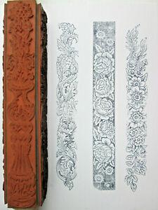 Judikins-Baroque-4-Sided-Rolling-Pin-Rubber-Stamp-Bellio-6805K-Wood-Mounted