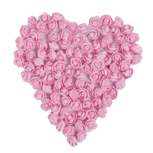 50 Colorful Foam Artificial Rose Flower Heads Wedding Party Decor Bouquet  LS