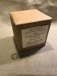 Wwii German Military Army Soup Erbsen Conserve Ration Box Ebay