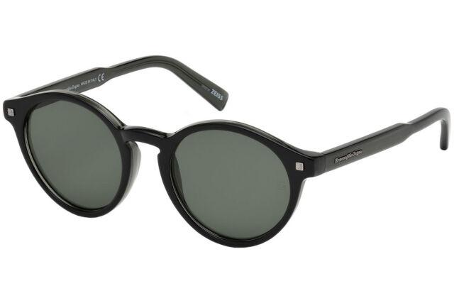 443950404f Authentic ERMENEGILDO ZEGNA EZ0063 - 05N Sunglasses Black   Green  NEW  50mm