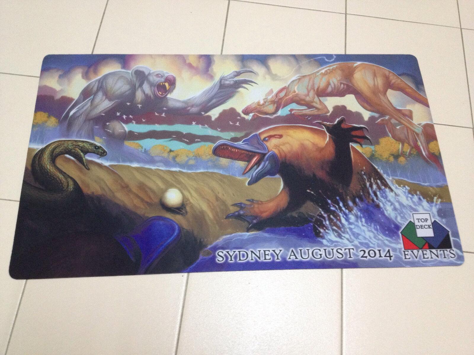 Mtg - grand - prix - sydney 2014 playmat, rk nach australien mit kunst