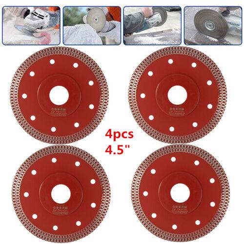 """4x 4.5/"""" SuperThin diamant céramique lame de scie Porcelaine Carrelage Marbre Coupe"""