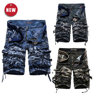 kinder jungen cargo shorts bermuda kurze hose military army camouflage pants ebay. Black Bedroom Furniture Sets. Home Design Ideas