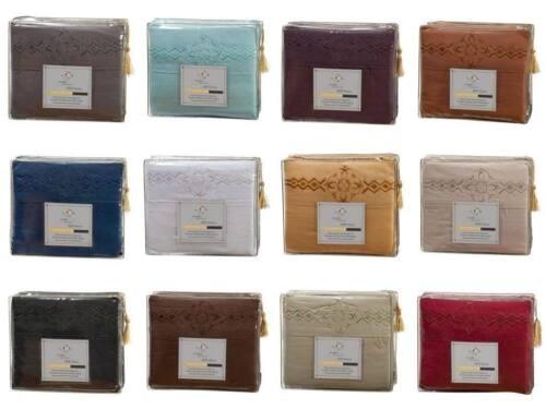 1800 SERIES BED SHEET SET Clara Clark Logo Pillowcases All Sizes /& 12 Colors