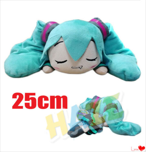 Anime Hatsune Miku Sleeping Drooling Soft  Stuffed Doll Plush Toy Gift