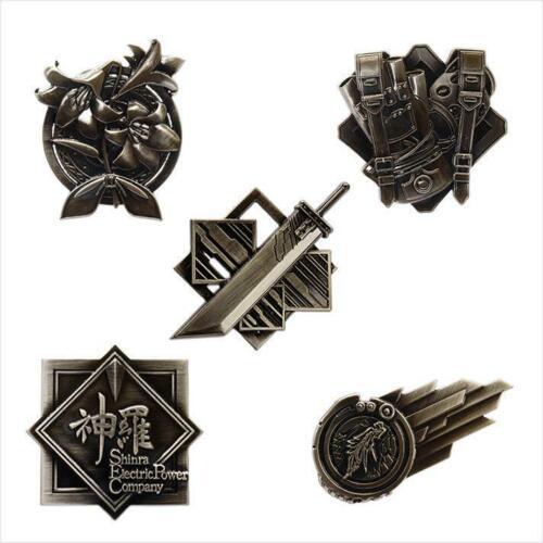 Square Enix FINAL FANTASY VII 7 REMAKE Ichiban Kuji E Pins Pin badge set 5 FF