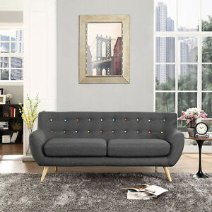 Modway EEI-1633 REMARK SOFA natural wood dowel legs and polyester upholstery