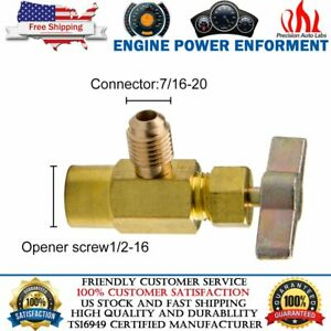 """1x 2-in-1 Side Can Tap 1//2/"""" ACME 1//4/"""" SAE For R134a R12 R22 R502 Refrigerant Kit"""