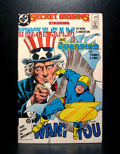 COMICS-DC-Secret-Origins-19-1980s-Uncle-Sam-Guardian-RARE-batman
