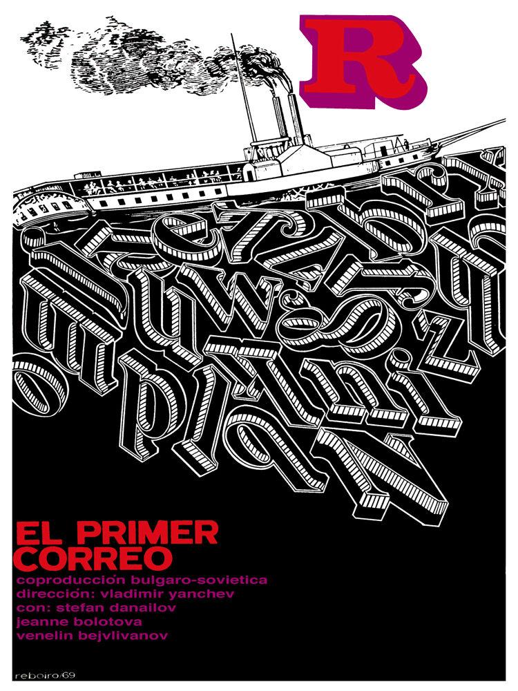 El Primer correo vintage Movie POSTER.Graphic Design.Wall Art Decoration.3705