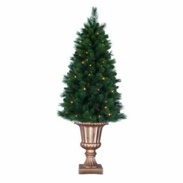 Potted Christmas Trees For Sale: General Foam Plastics TS-RAF145231 Artificial Pre-Lit